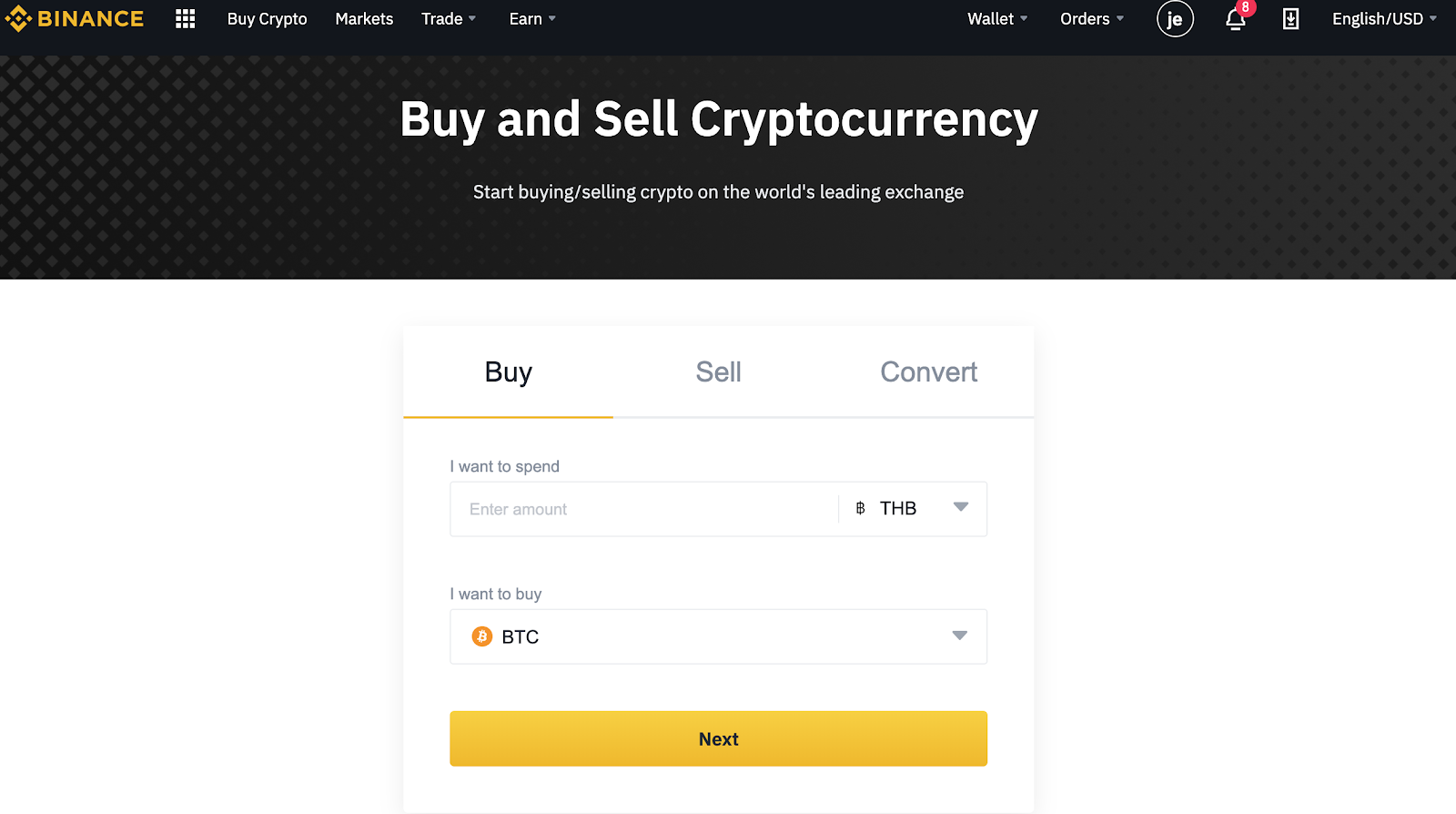 Can i buy bitcoin on binance with a credit card