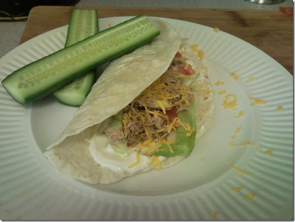 Crock Pot Chicken with Verde Sauce Burrito's