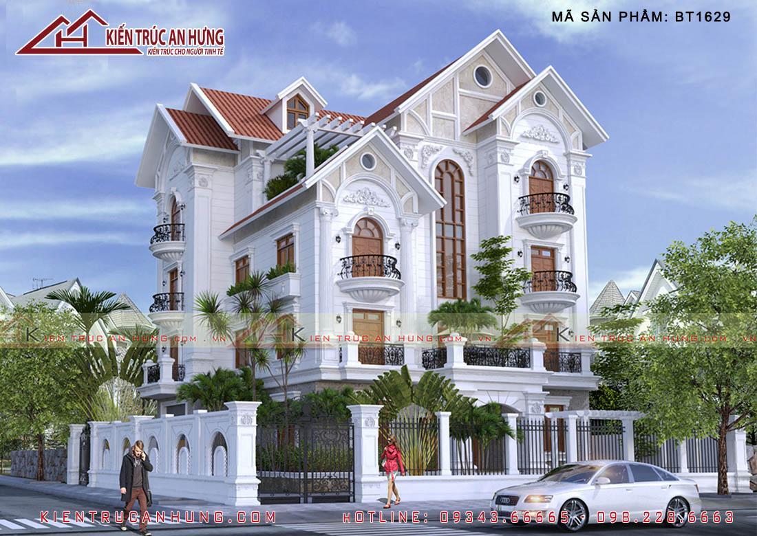 Biệt thự 4 tầng mái thái BT1629