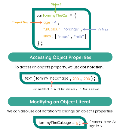 JavaScript Coding Example of an Object Literal