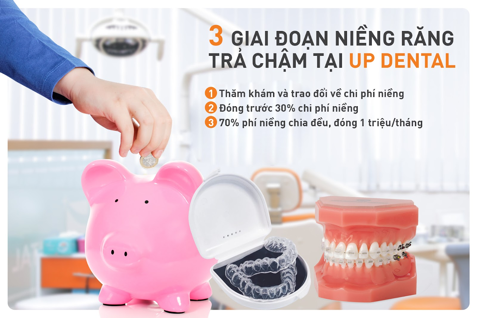 niềng răng trả góp 1 triệu/tháng