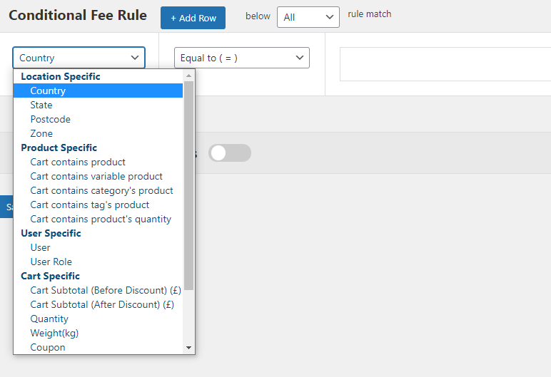 Adding a Country-specific Conditional Fee Rule in Extra Fees Plugin