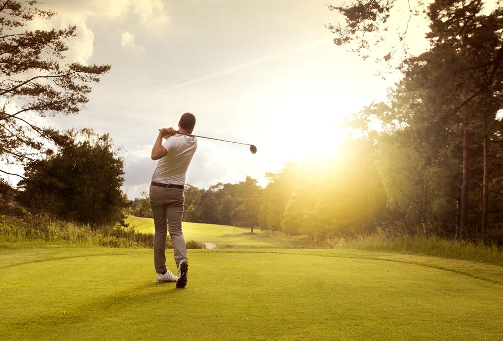 man on a golf course