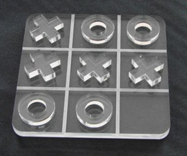 glass tic tac toe