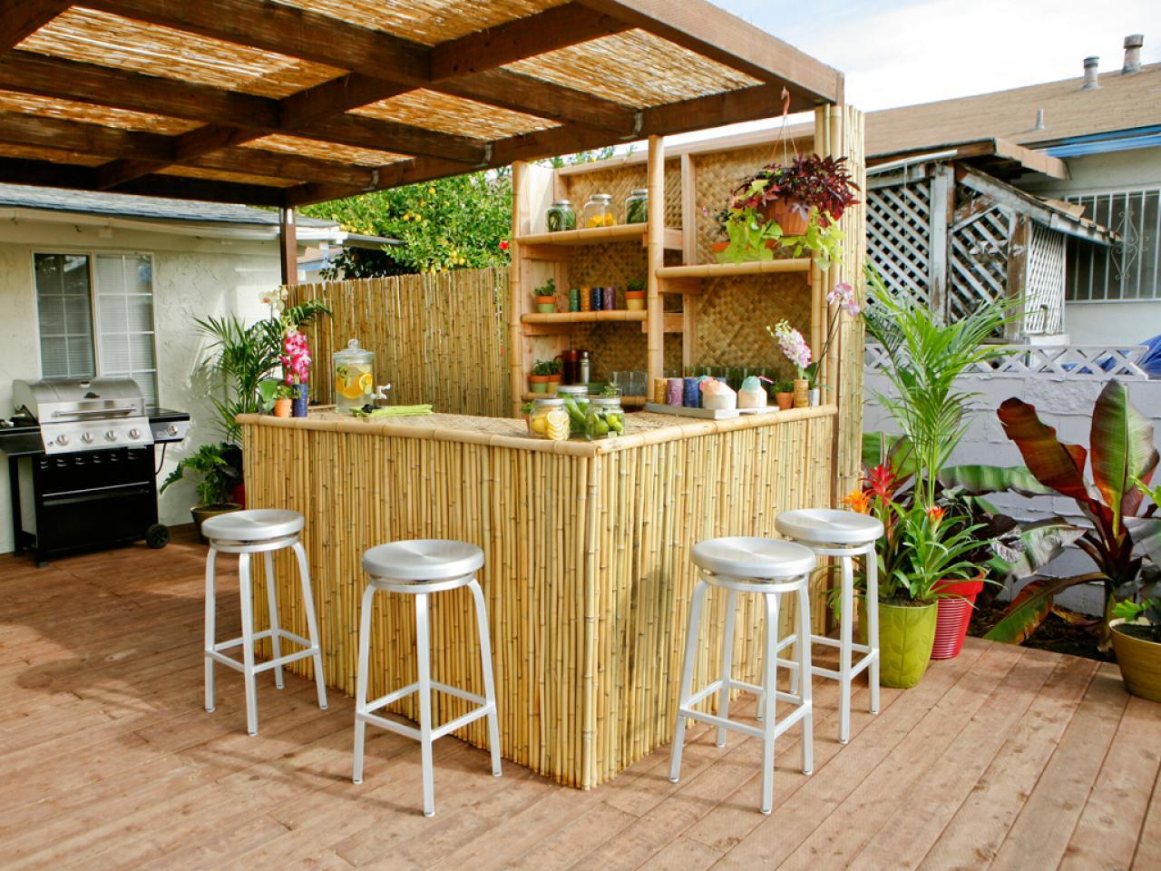 Mẫu quầy bar gia đình cho nhà vườn
