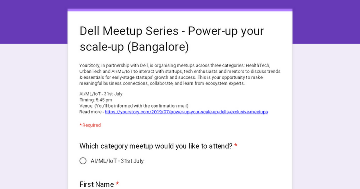 Dell Meetup Series - Power-up your scale-up (Bangalore)
