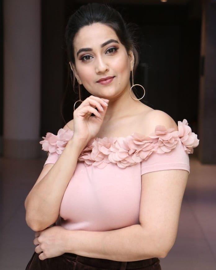 Anchor Manjusha Beautiful Stills at Disco Raja Movie Success Meet Navel Queens