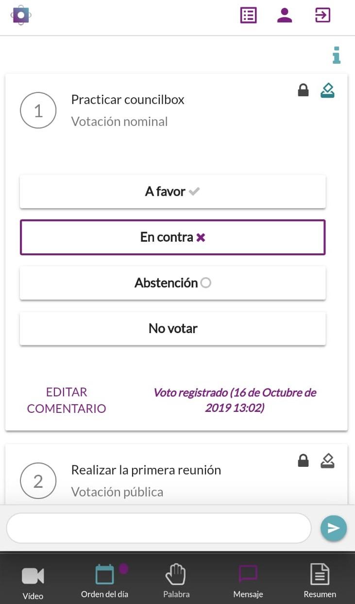 Mecánica del voto en Councilbox
