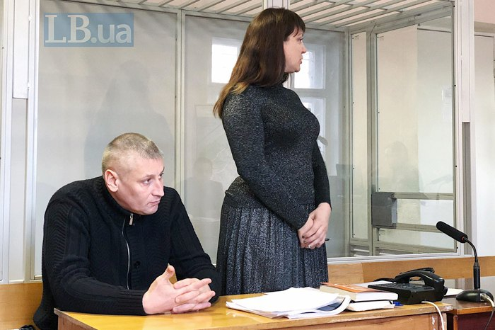 Владислав Лукаш і його адвокат Наталя Вознюк