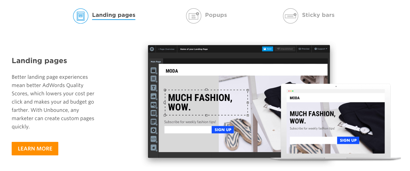 Unbounce landing page builder proven to increase conversion rates