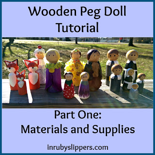 wooden peg doll diy tutorial materials and supplies