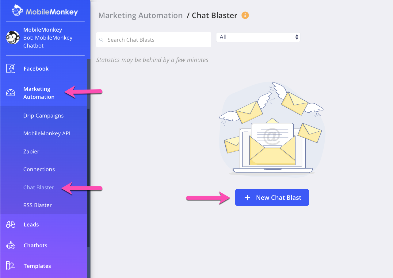 chat blaster tools for sms bots