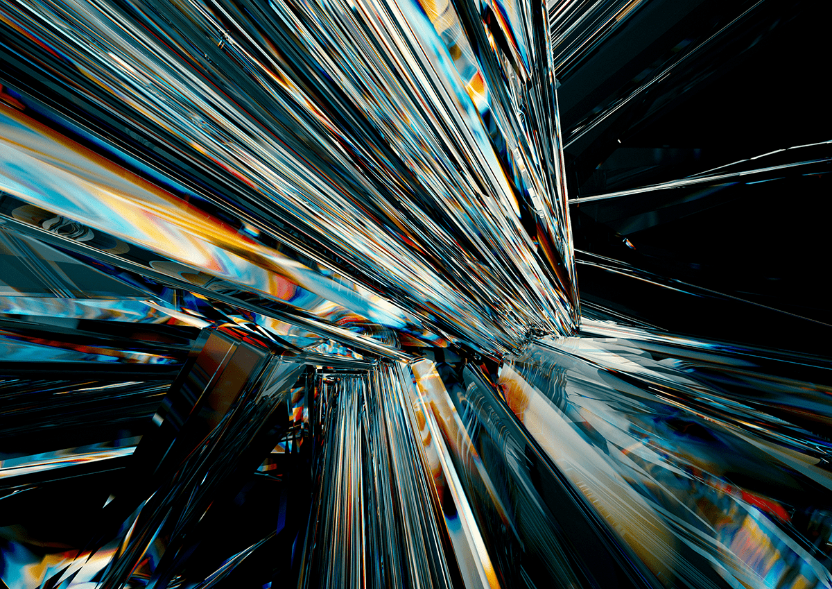 abstract cinema4d geometric glass organic redshift shapes
