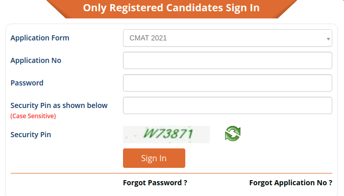 NTA CMAT 2021 Application Details