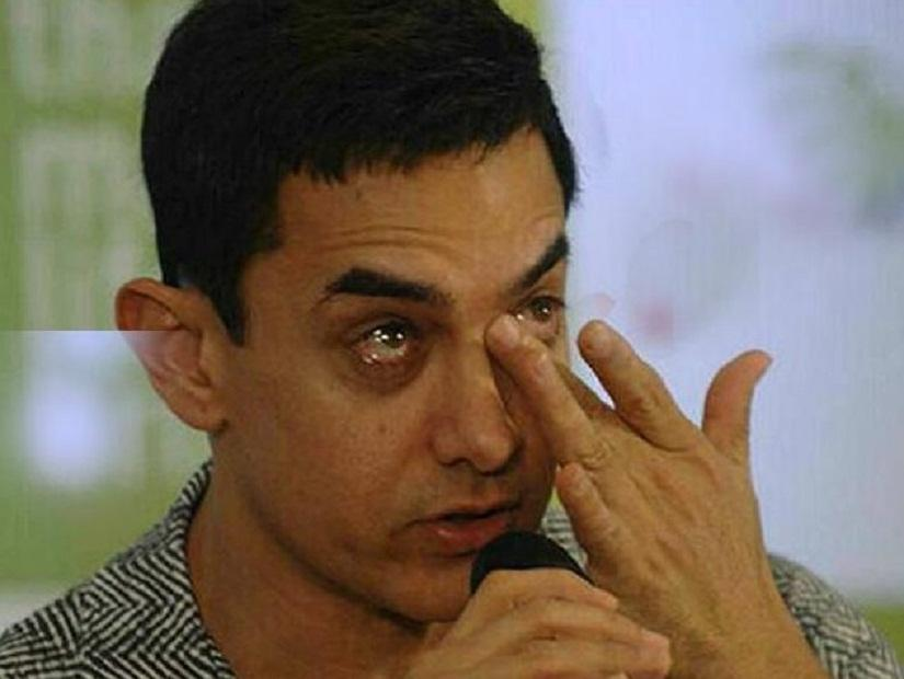 Image result for aamir khan in tears
