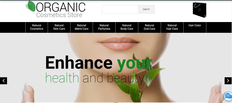 Organic Cosmetics Store - Opencart themes