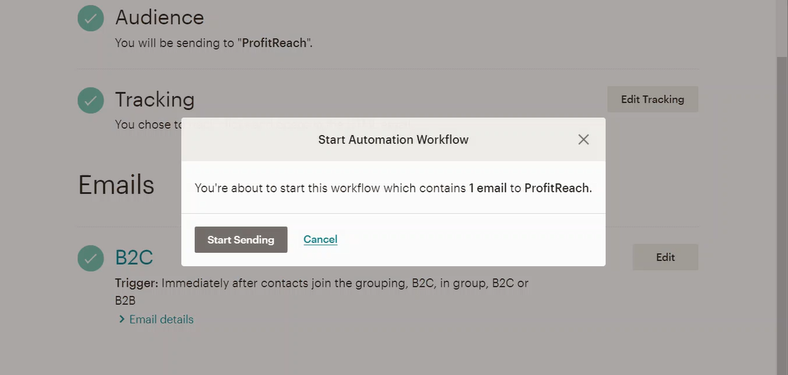 Start the automation.