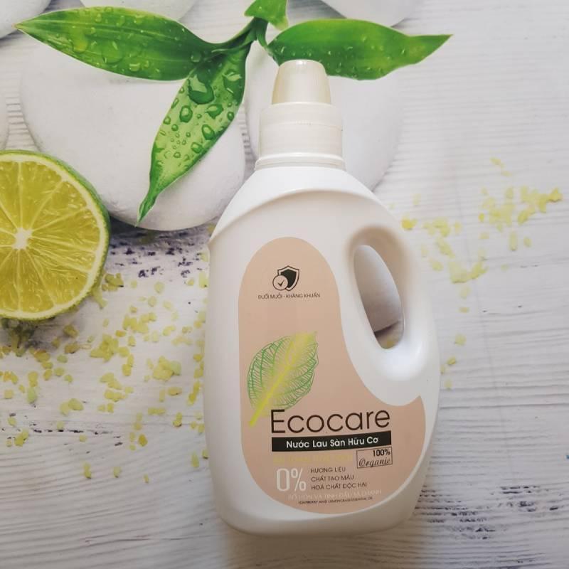 Tìm hiểu về nước lau nhà hữu cơ Ecocare bồ hòn tinh dầu sả chanh