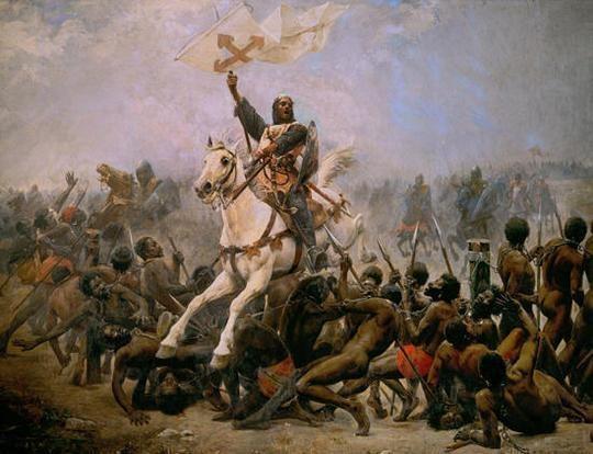 Resultado de imagen de Sancho VII de Navarra irrumpe a caballo sobre la Guardia Negra