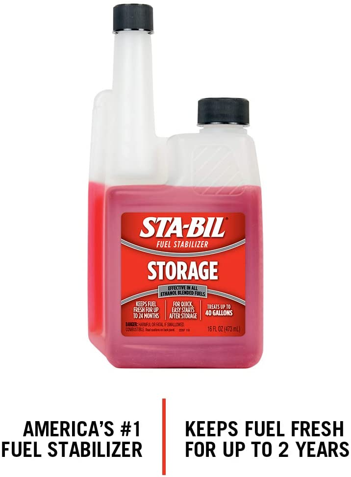 Fuel Stabilizer will help keep your boat fuel over the winter.