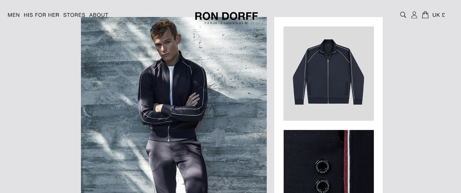 Ron Dorff homepage with website localization