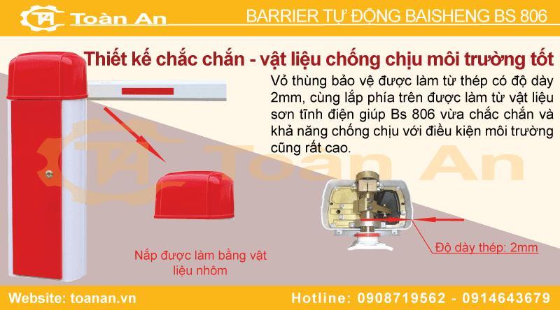 Thiết kế chắc chắn và vật liệu chống ăn mòn của barrier tự động baisheng bs 806.