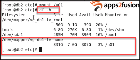 How to rename a mount point in Linux