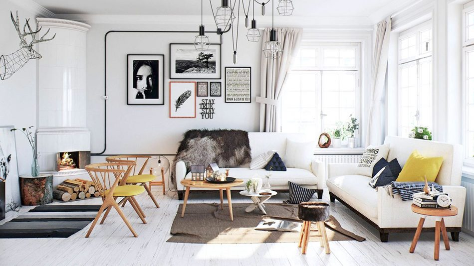 thiết kế nội thất căn hộ scandinavian