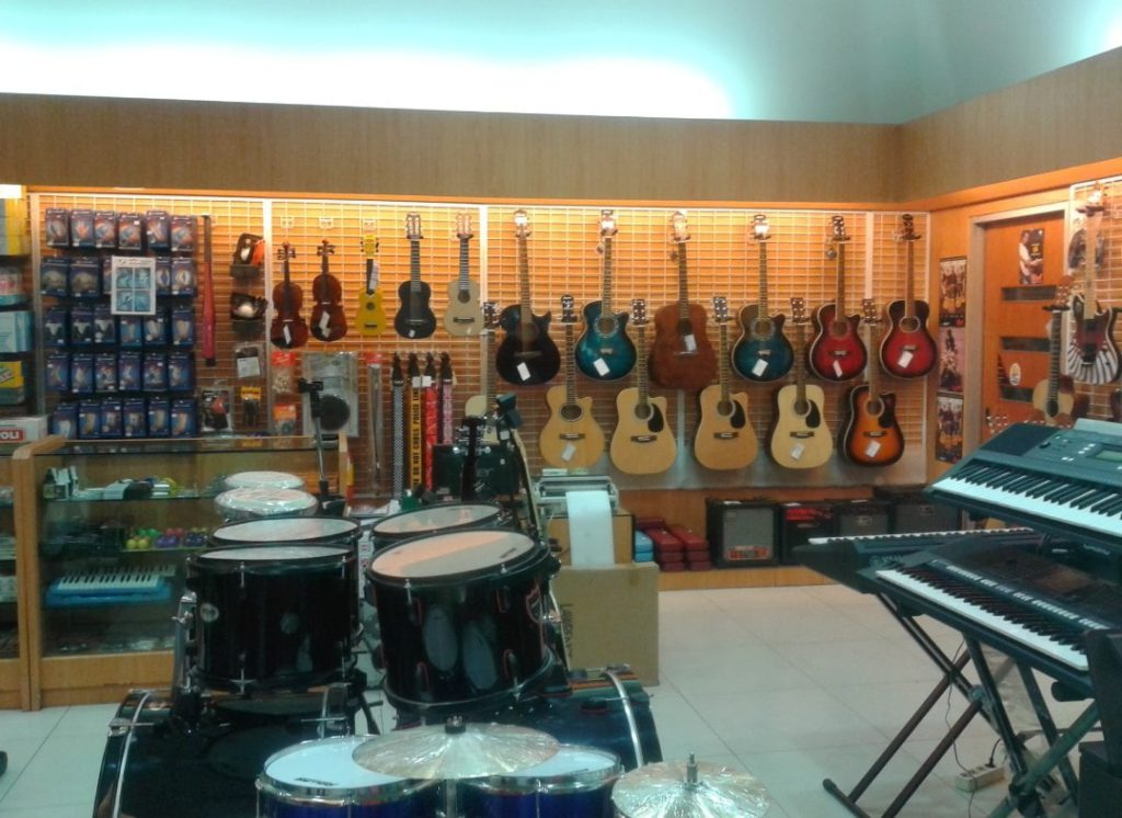 inside of MG Sports and Music