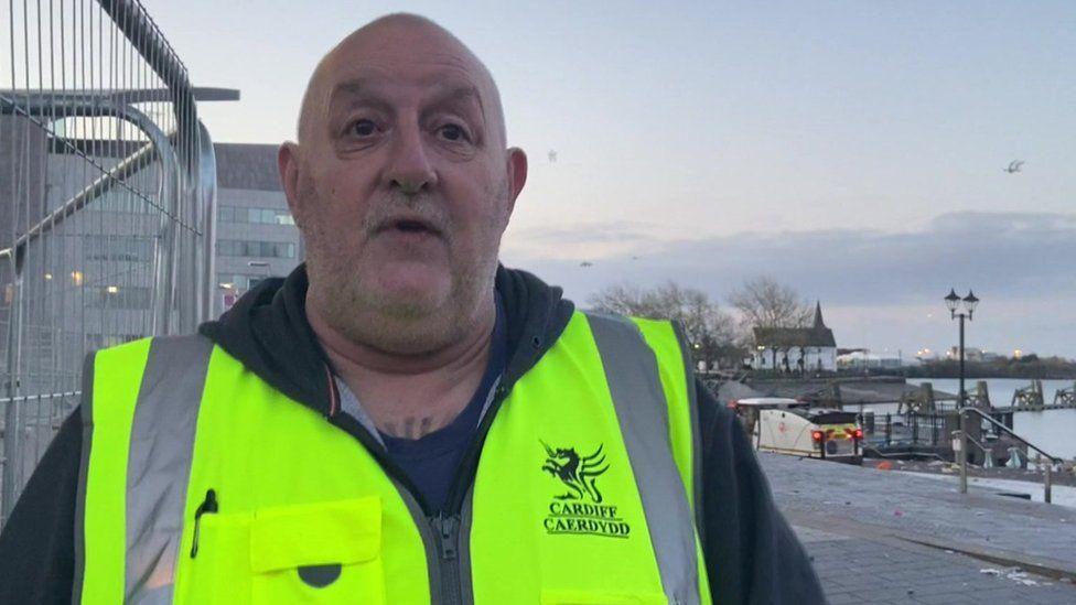 Clean-up supervisor Tony Tobenas
