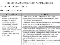Kisi-Kisi UN SD 2012-2013