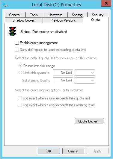 quản trị tài nguyên mạng - giới hạn dung lượng home folder