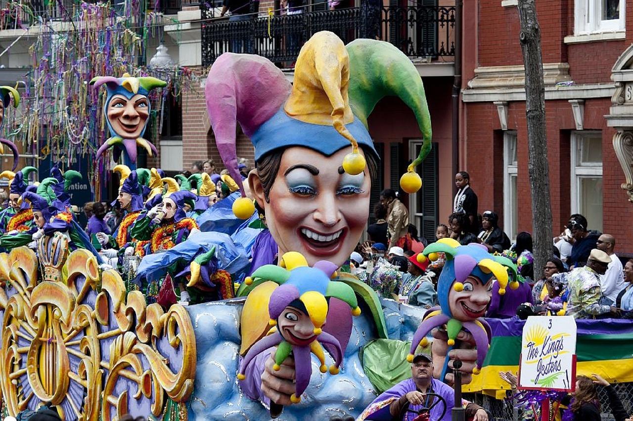 parade au carnaval de la nouvelle orléans
