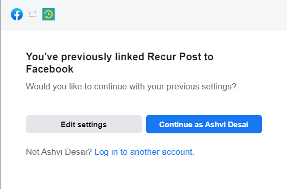 reconnecting Instagram business profile  - recurpost - social media scheduling tool
