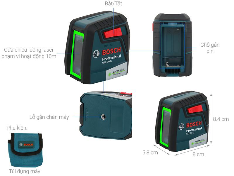 Các bộ phận của máy cân mực laser