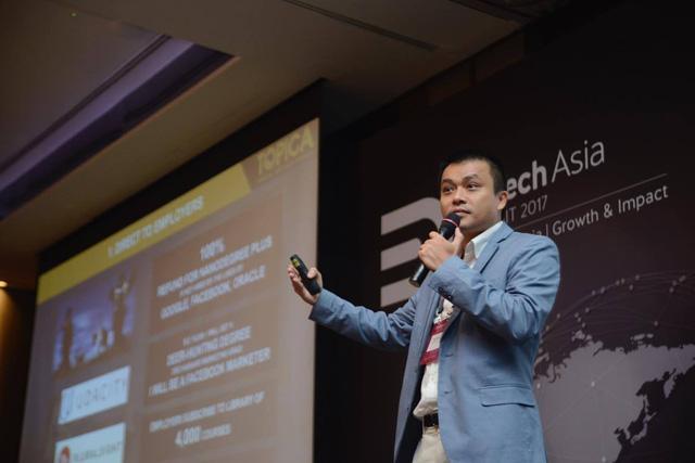 Tiến sĩ Phạm Minh Tuấn, người sáng lập và điều hành Tổ hợp công nghệ giáo dục Topica (Topica Edtech Group).
