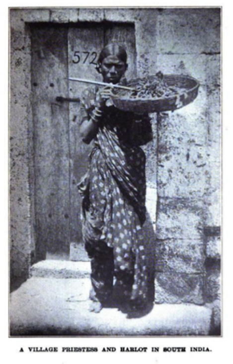 "Photo of ""A Village Priestess and Harlot in South India"" from the 1915 United Study text The King's Highway."