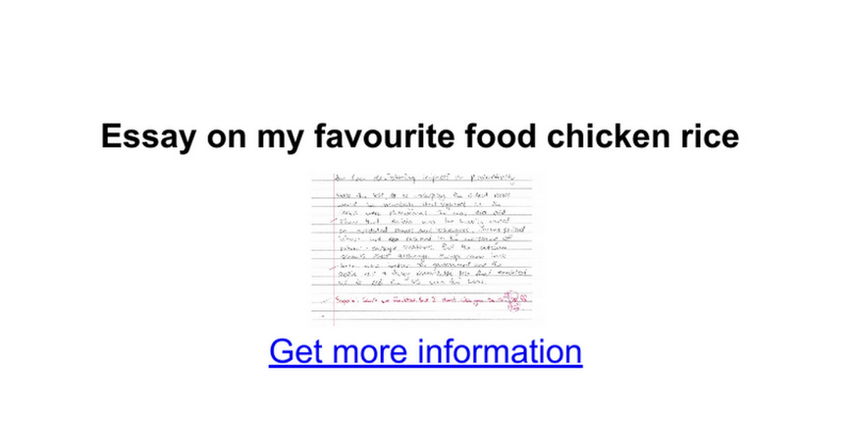 essay on my favourite food chicken rice google docs