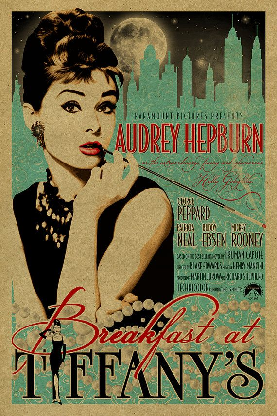 Audrey Hepburn in Breakfast at Tiffany's by UncleGertrudes on Etsy:
