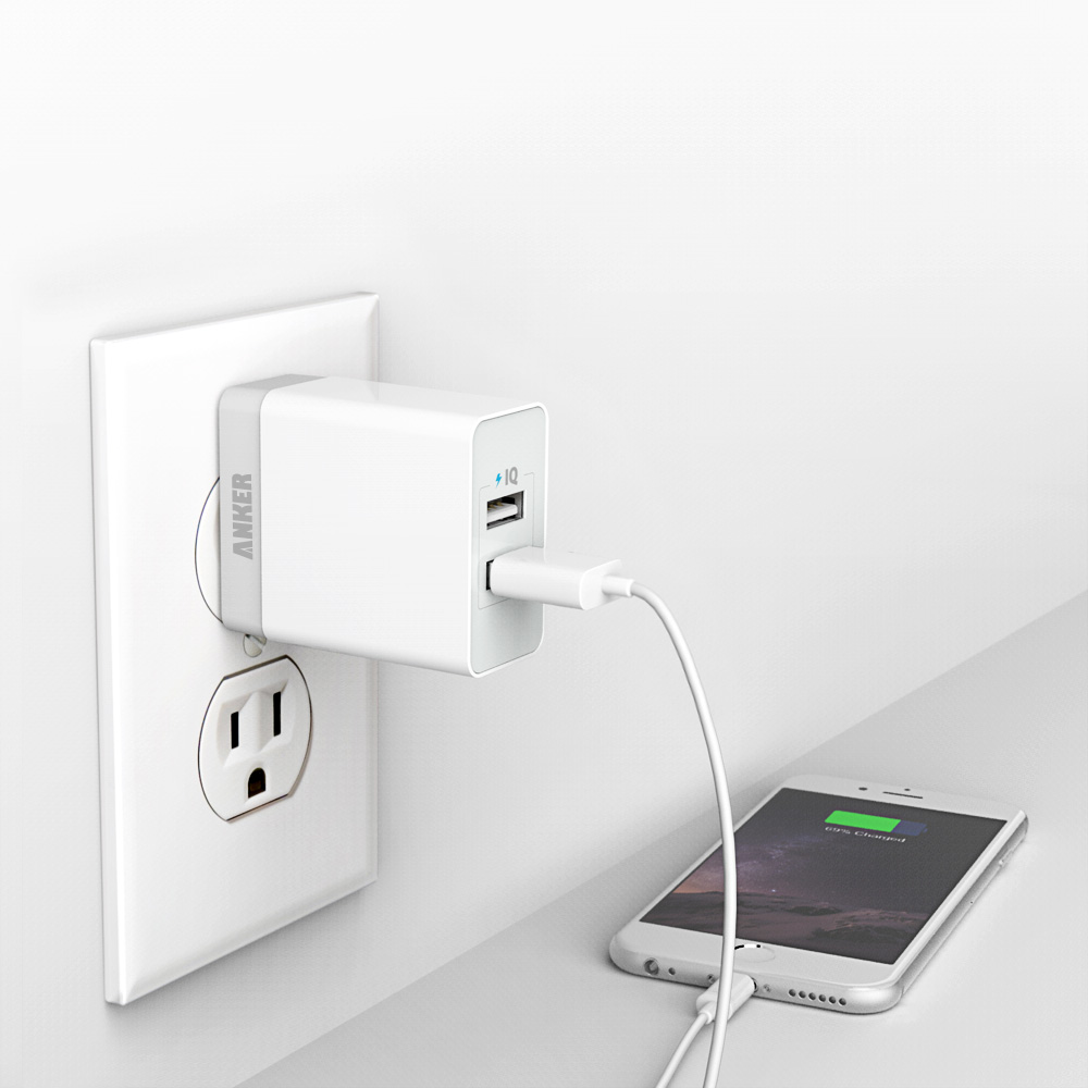 Giveaway iphone charger with wall plug anker