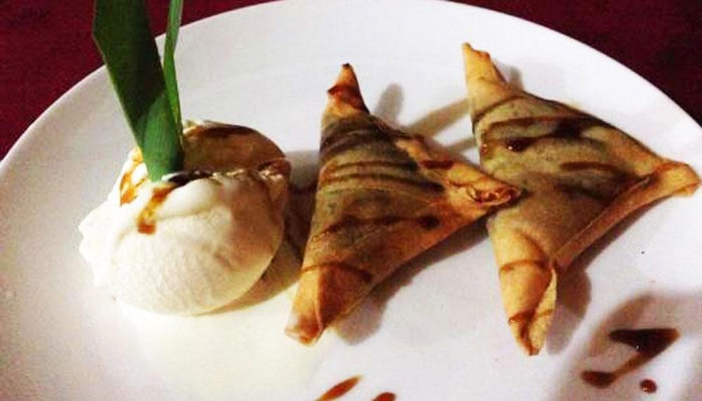 Image result for Samosa with ice cream