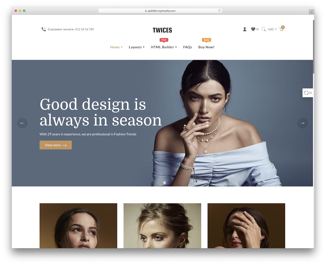 Shopify jewelry themes Ap Twices