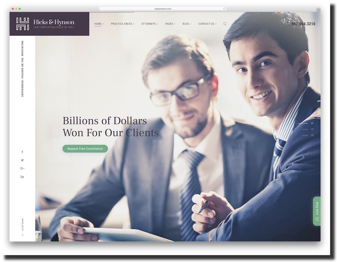 Hicks & Hynson law firm website template