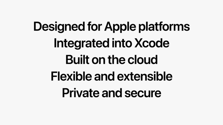 Xcode Cloud features. Image Credits: Platforms State of the Union WWDC'21