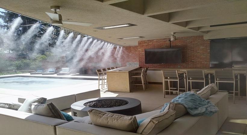 Sử dụng hệ thống phun sương làm mát công trình