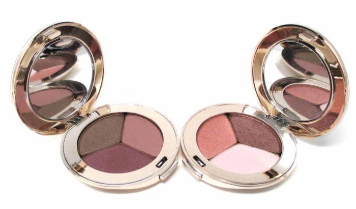 Jane Iredale PurePressed Eye Shadow Triples in Soft Kiss and Pink Quartz