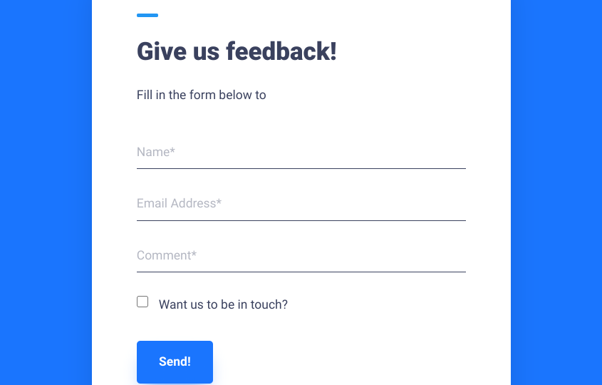 The Product Feedback.