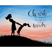 canvas painting design - Cherish the Moment