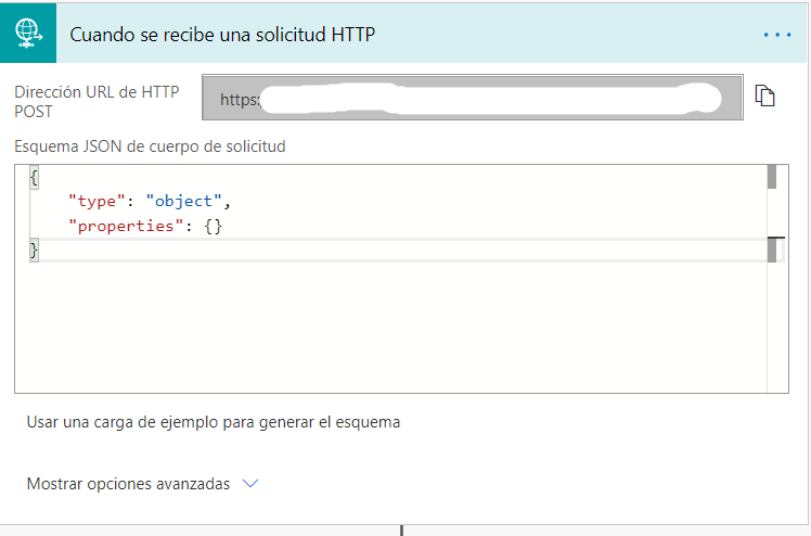 configure the HTTP request