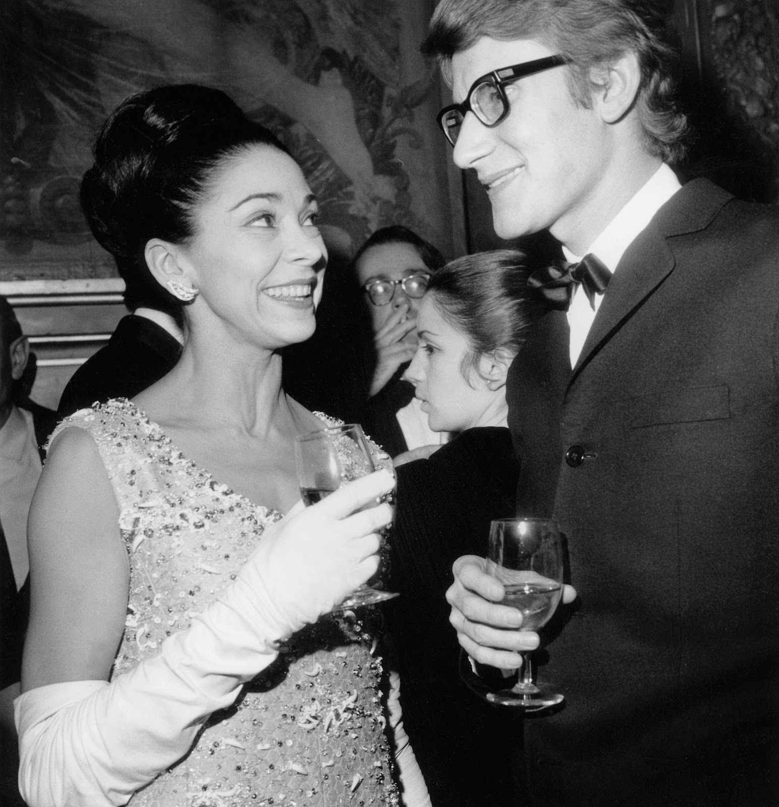 Margot Fonteyn e Yves Saint Laurent